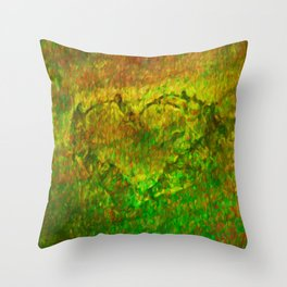The Heart - Painting by Brian Vegas Throw Pillow