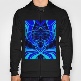 Blue abstraction Hoody