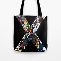 nightcrawler Tote Bags featuring X1 by Andrew Formosa