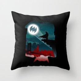 Bat-Man Throw Pillow