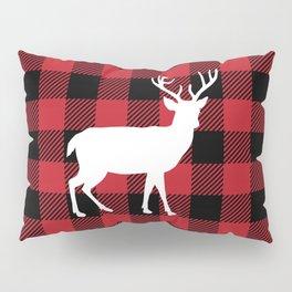 Buffalo Plaid - Deer Pillow Sham
