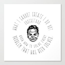 Richard Feynman Quotes Canvas Print