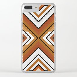 Geometric Art with Bands 09 Clear iPhone Case