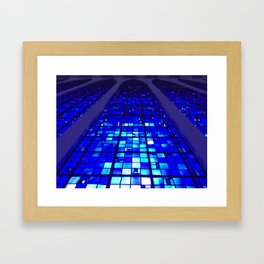 Shades of Heaven in Blue Framed Art Print