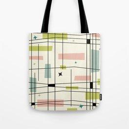 Mid Century Art Bauhaus Style Pastel Tote Bag