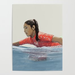 Roxy surf girl Poster