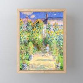 Monets Garden at Vetheuil Framed Mini Art Print