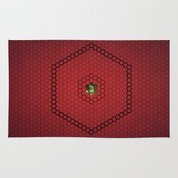 hexagon Area & Throw Rugs featuring Hexagon by BoxEstudio
