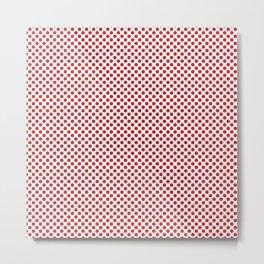 Flame Scarlet Polka Dots Metal Print