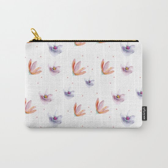 Delicate Floral Pattern 05 Carry-All Pouch