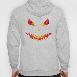Sparkly Jack O'Lantern face Halloween pattern Hoody