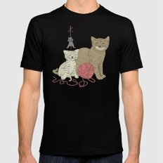 Naughty Cats MEDIUM Mens Fitted Tee Black