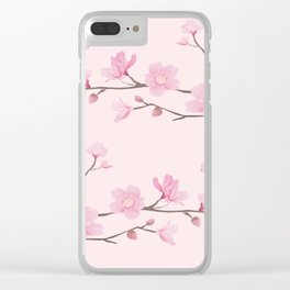 Cherry Blossom - Pink Clear iPhone Case