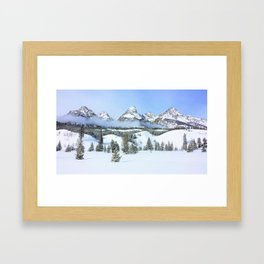 Grand Tetons in Winter Framed Art Print