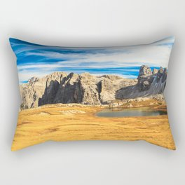 lakes in the dolomites Rectangular Pillow
