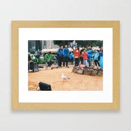 Fed Square camp fire Framed Art Print