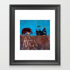 The Three Incomparable Wise Men Lecture the Unruly Giant on a Matter of Virtue Framed Art Print