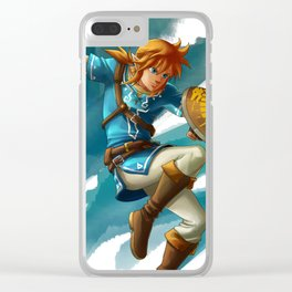 Link (The legend of Zelda Breath of the wild) Clear iPhone Case