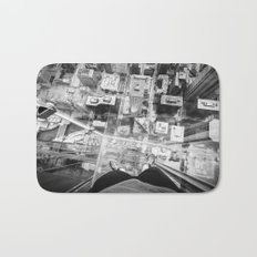 Chicago from the top Bath Mat