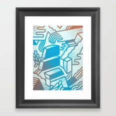 Building Blocks Framed Art Print