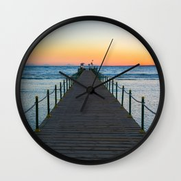 Sunrise on Red Sea Wall Clock