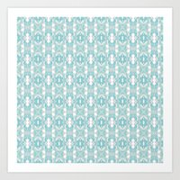 Abstract soft blue Art Print