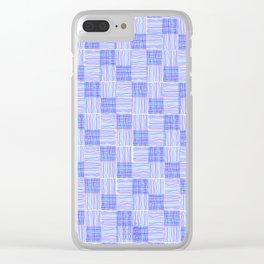 Interpretive Weaving (Cool Breeze) Clear iPhone Case