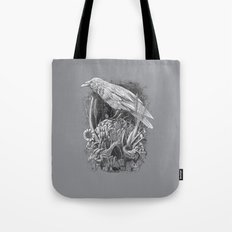 White Raven Tote Bag