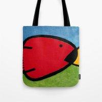1975 Tote Bags featuring La pesca de un Miró by Fernando Vieira