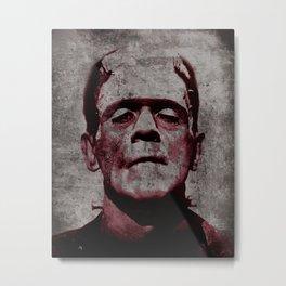 Frankenstein Art Print, Frankenstein, Frankenstein Print, Halloween Decor, Frankenstein Art, Horror Poster, Boris Karloff, Movie Art, Frankenstein Monster, Creepy, Fun, Hip, Cool, Odd, Gift, Monster Metal Print