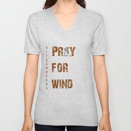 Kitesurfers Pray for Wind Unisex V-Neck