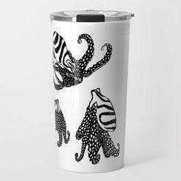 Three Large Pacific Striped Octopuses Travel Mug