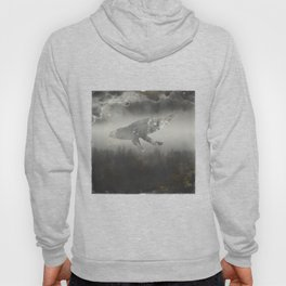 Dream Space - Surreal Image with A Whale Hoody