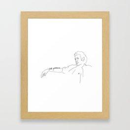 Jeff Goldblum, With Text Framed Art Print
