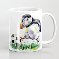 football Mugs featuring Football by Anna Shell