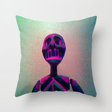 RED SKELETON Throw Pillow