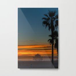 Ruby's and Palms Metal Print