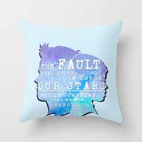 fault in our stars Throw Pillows featuring The fault in our stars by //SOLIDS//