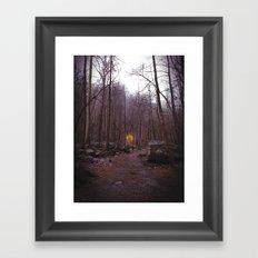 Lone Balloon Framed Art Print