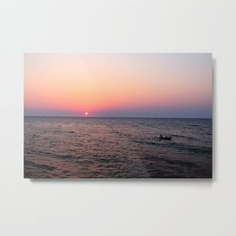 Old man& The sea; Wide  Metal Print