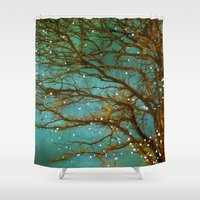 michael jackson Shower Curtains featuring Magical by The Last Sparrow