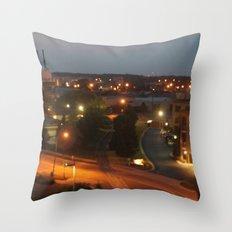 Holland, Michigan At Night Throw Pillow