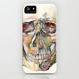 Human Skull Painting iPhone Case