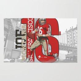 NFL Legends: Joe montana 49ers Rug