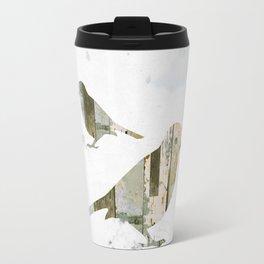 Reclaimed Wood Birds Travel Mug
