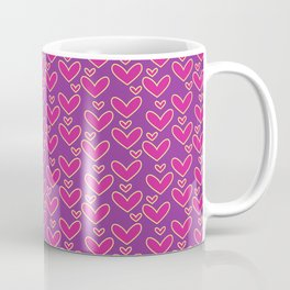 Purple Hearts Repeated Pattern 094#001 Coffee Mug