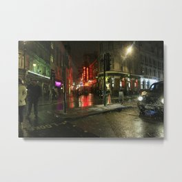 Snowing in London Metal Print