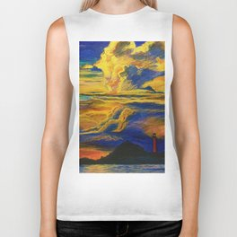 Golden Sunset Biker Tank