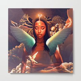 AALIYAH---ANGEL Metal Print