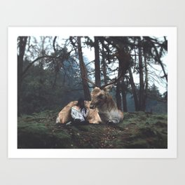 In The Forest by Omerika Art Print